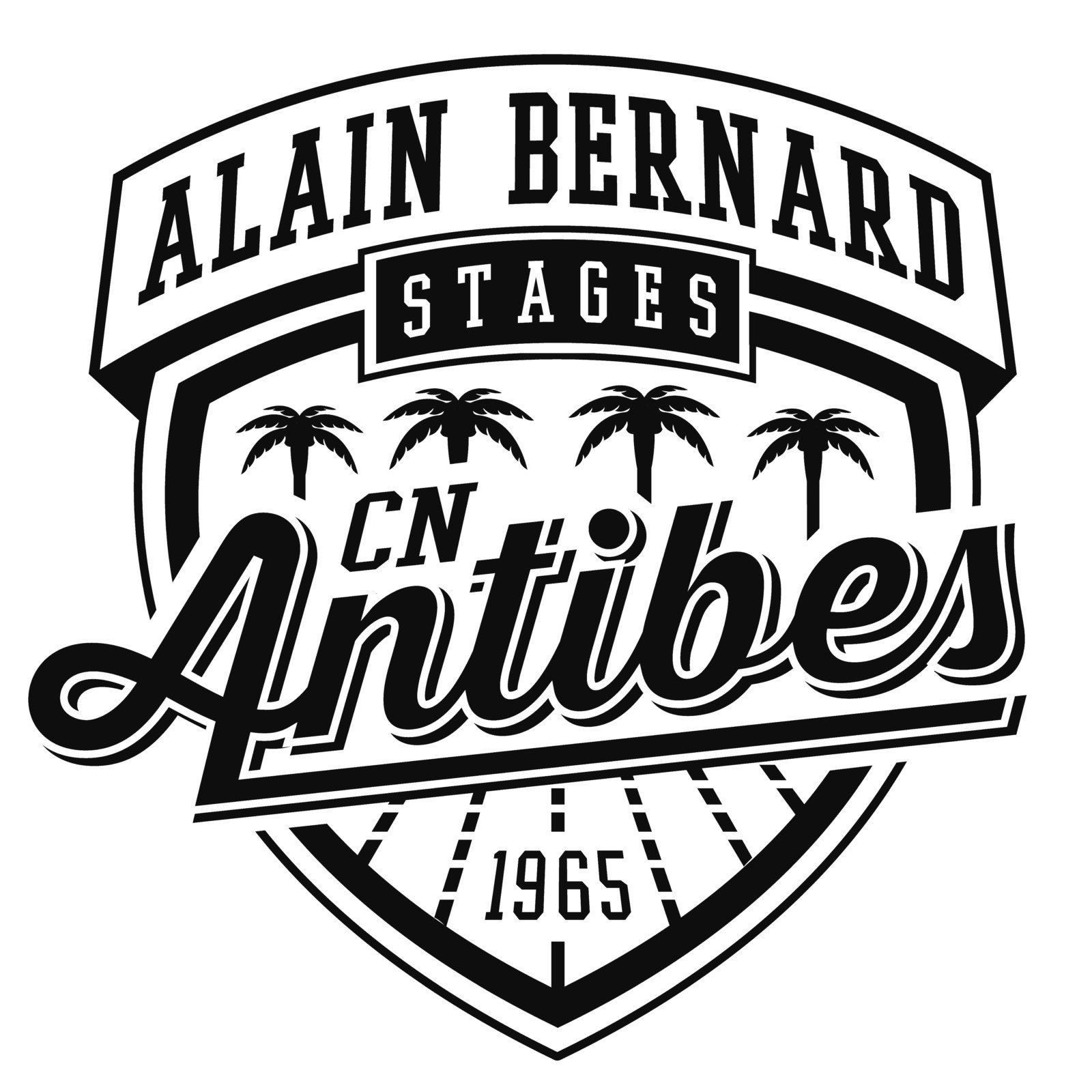 Logo Stages natation Alain Bernard by CN Antibes
